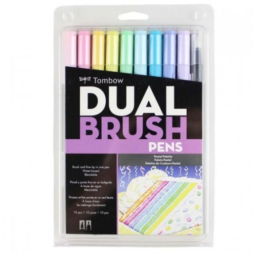 ESTOJO DUAL BRUSH TONS PASTEIS C/10 CORES *56187